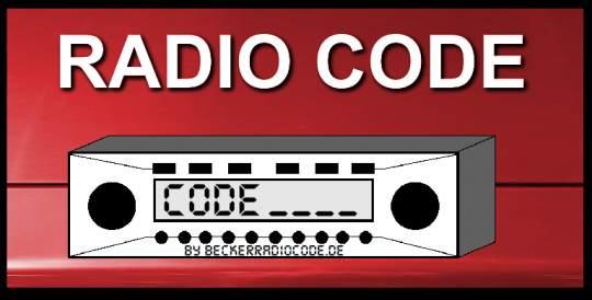 Radio Code für Becker BE7820 Traffic Pro High Speed