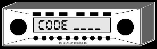 Radio Code für Chrysler Harman Uconnect 8.4 RG3 - VP3